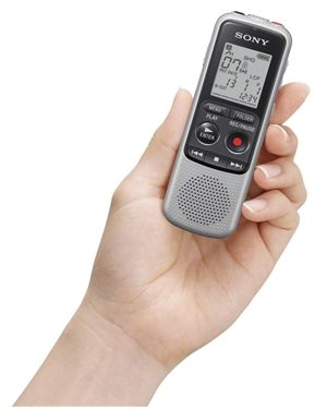 SONY digitalni diktafon ICDBX-140, 4GB spomin, MP3