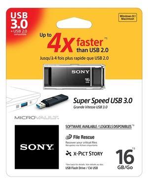 SONY USB 3.0 ključ 16GB USM16GXB črna barva