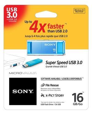 SONY USB 3.0 ključ 16GB USM16GXL modra barva