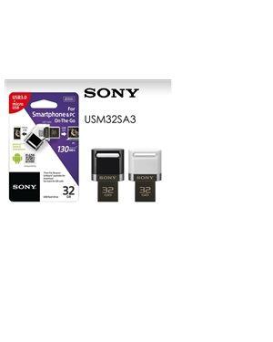 SONY 32GB MicroUSB/USB ključ, bel, USB 3.1